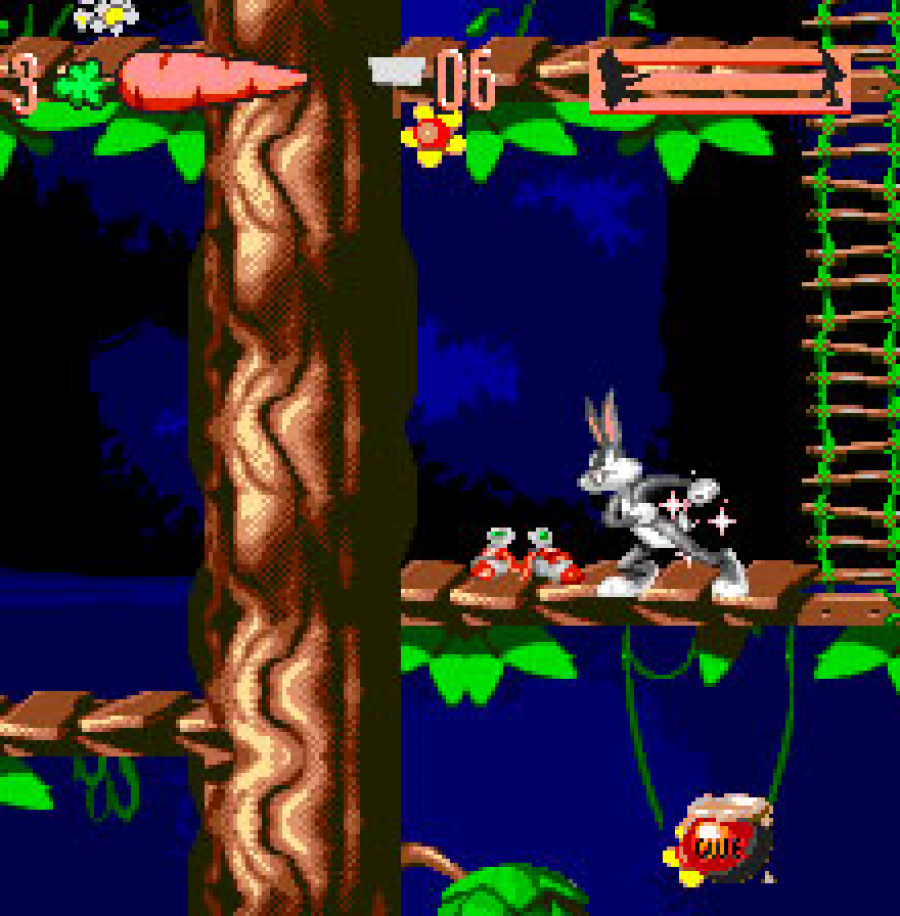 Sonic Shoes in Bugs Bunny Double Trouble Game