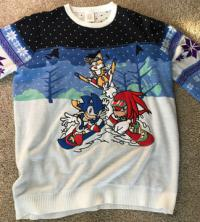 Numskull winter sweater, Sonic, Tails & Knuckles