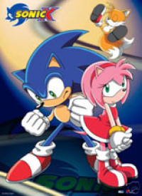 Sonic X wallscroll - Sonic and Amy