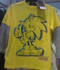 Bright long sleeve Sonic shirt from NEXT