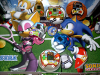 Sonic Sports LCD McDonalds game cardboard stand