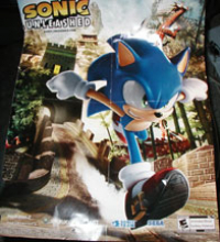Sonic Unleashed double sided poster