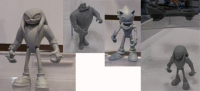 Collection of Unpainted Sonic Boom Figures