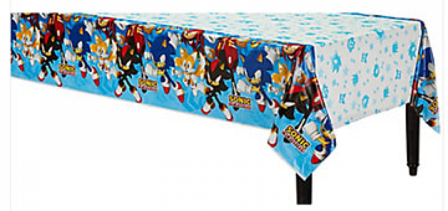 Cool Sonic plastic table cover