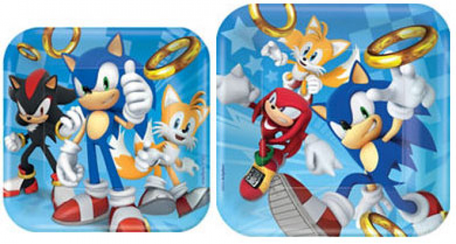 Sonic party paper plates