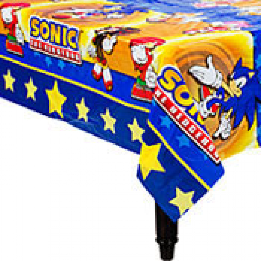 Sonic party table cloths