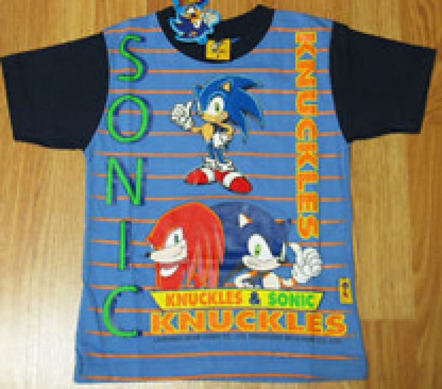 Sonic & Knuckles striped shirts