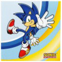 Modern Sonic party napkins