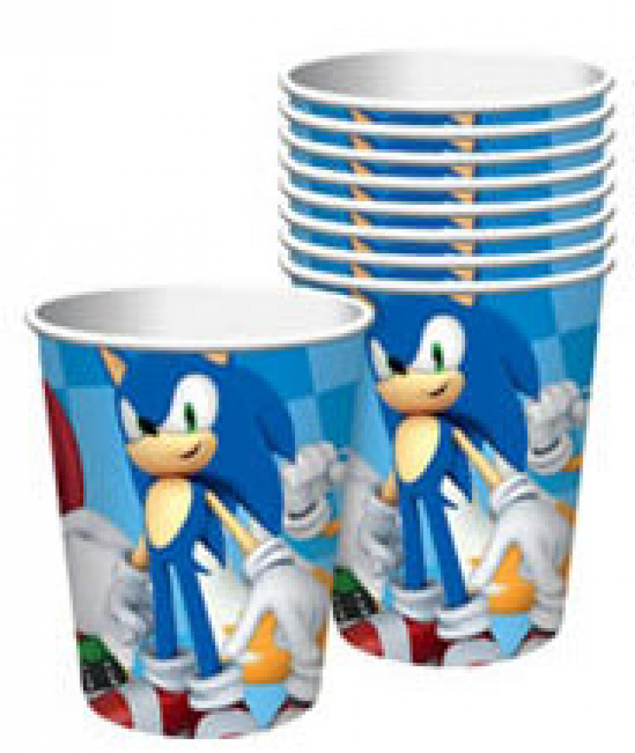 Sonic paper party cups for 2017