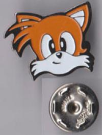 Tails face pin from 1992