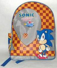 Sonic with attitude checkered green hill school bag