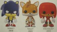 Sonic, Tails & Knuckles Funko pops